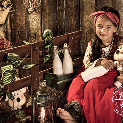 fotografía infantil granja