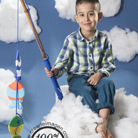 fotografía infantil  nubes crearte imagen
