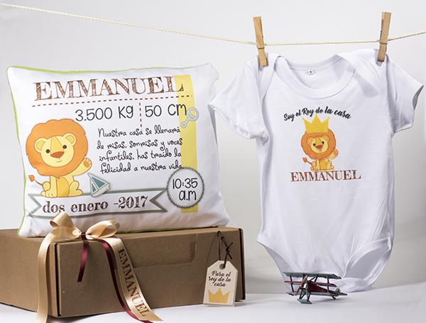 Kit recién nacido (body + cojín 30cmx30cm
