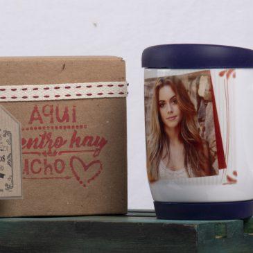 Mug personalizado con tapa de silicona