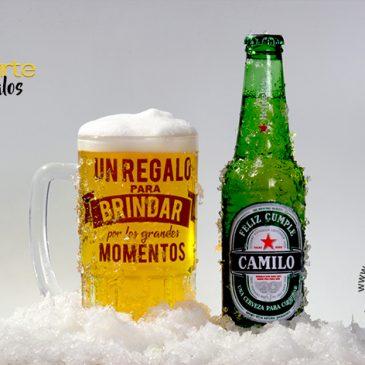 Cerveza + Vaso Cervecero Personalizado