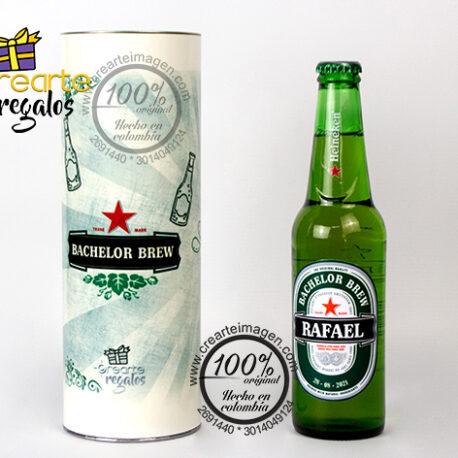 cerveza + tubo decorado